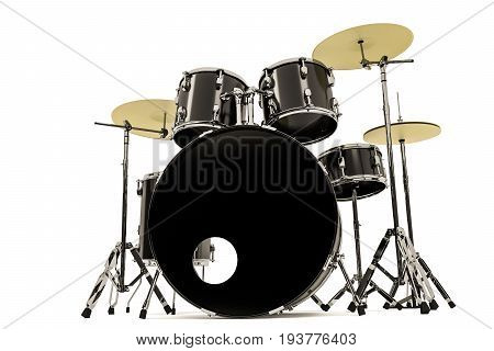 3d illustration of a drums isolated on white background