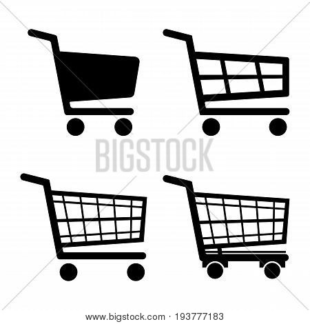 Shopping Cart Icon set icon isolated on white background. Vector illustration. Eps 10.