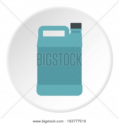 Jerrycan icon in flat circle isolated vector illustration for web