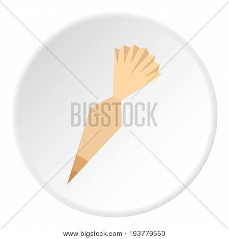 Cooking bag with nozzle icon in flat circle isolated vector illustration for web