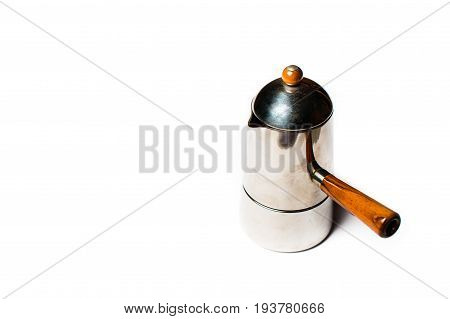 Italian Coffee Maker With White Background