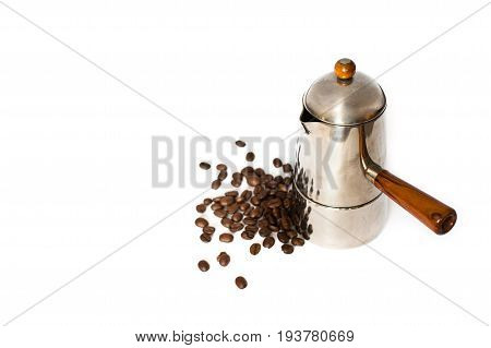 Italian Coffee Maker And Coffee Beans