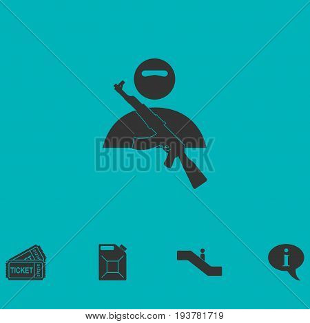 Raider icon flat. Simple vector symbol and bonus icon