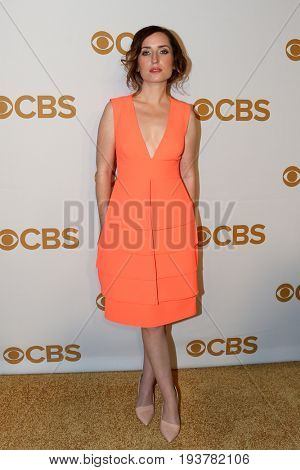 Actress Zoe Lister Jones attends the 2015 CBS Upfront at The Tent at Lincoln Center on May 13, 2015 in New York City.
