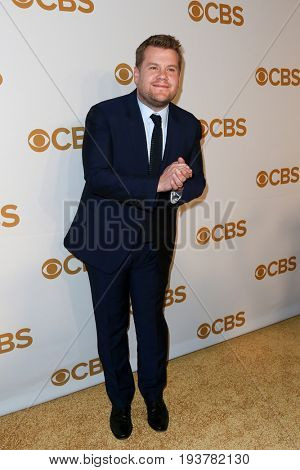 Talk show host James Corden attends the 2015 CBS Upfront at The Tent at Lincoln Center on May 13, 2015 in New York City.
