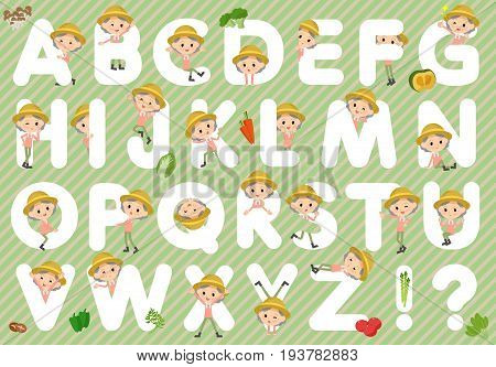 Farmer Worker Old Woman A To Z