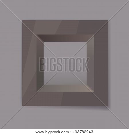 dark chrom metal frame blank for your text, photo or design eps10 isolated vector illustration
