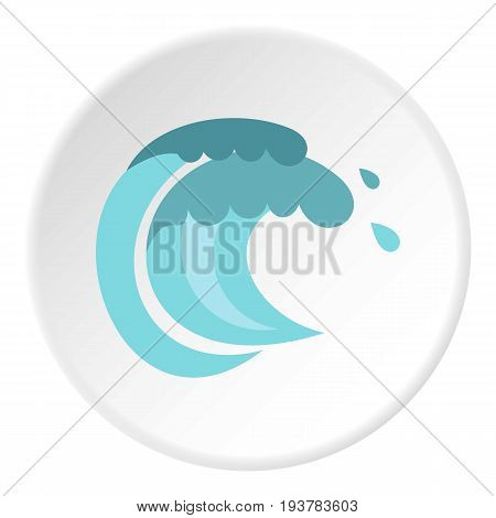 Tenth wave icon in flat circle isolated vector illustration for web