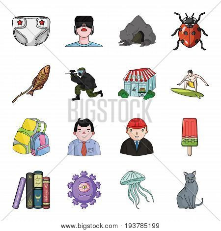 toy, horror story and other  icon in cartoon style. travel, tourism, entertainment icons in set collection.