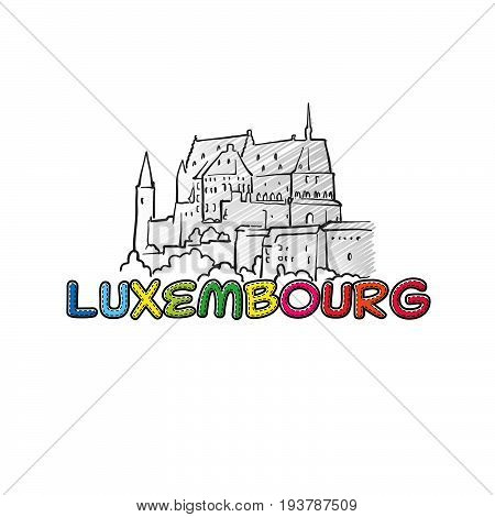 Luxembourg Beautiful Sketched Icon