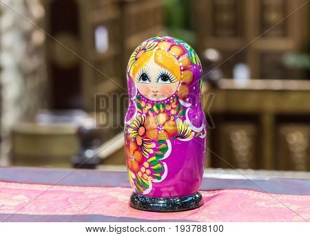 Beautiful Colorful Russian Nesting Doll Matreshka