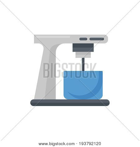 Flat mixer icon. Vector illustration isolated on a white background. Simple color pictogram of mixer.