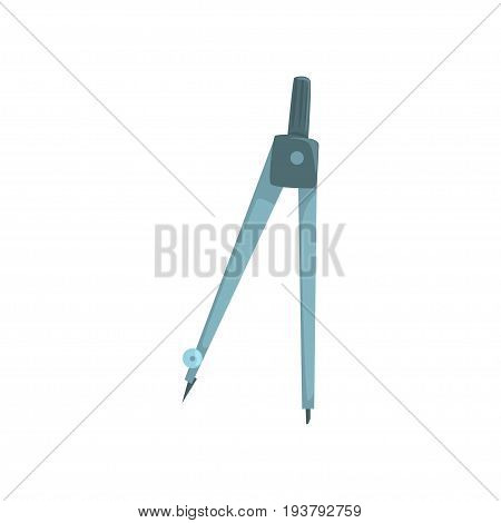Compass tool, measuring equipment cartoon vector Illustration isolated on a white background