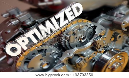 Optimized Engine Motor Power Performance 3d Illustration