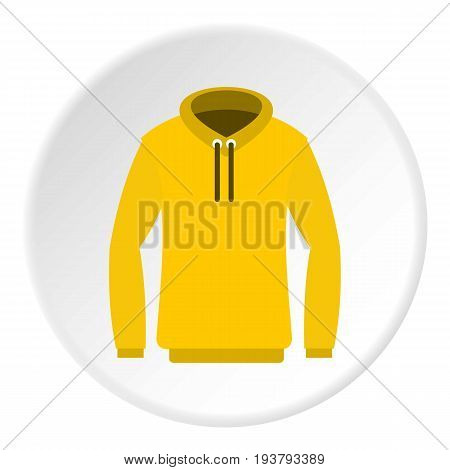 Hoody icon in flat circle isolated vector illustration for web