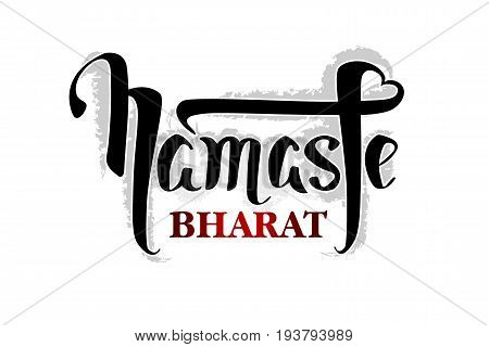 Namaste vector lettering illustration. Hand drawn phrase. Isolated on white background. Handwritten Modern brush calligraphy for invitation and greeting card, t-shirt, prints and posters.
