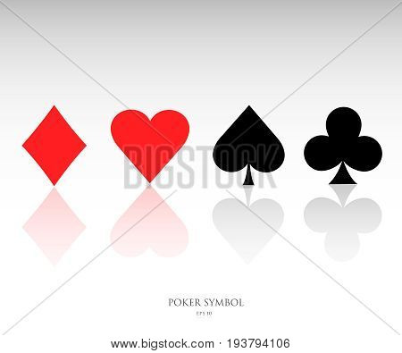 Playing cards symbols . Pokers icons vector illustration