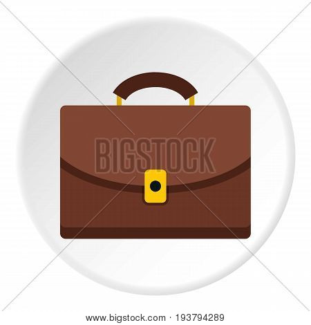 Diplomat icon in flat circle isolated vector illustration for web