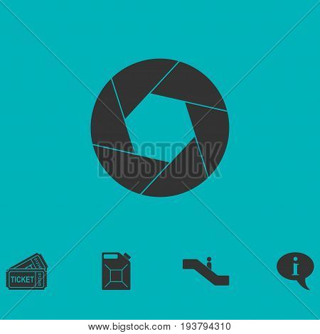 Diaphragm icon flat. Simple vector symbol and bonus icon