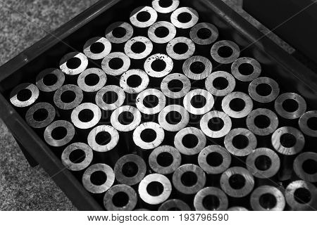 The steel rod raw material for manufacturing.