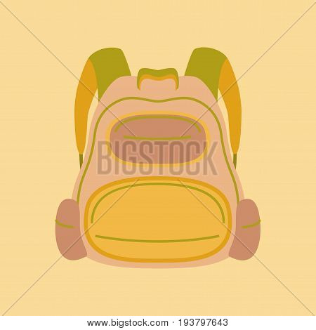 flat icon on stylish background fashionable school bag