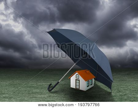 House insurance concept residential home real estate protection