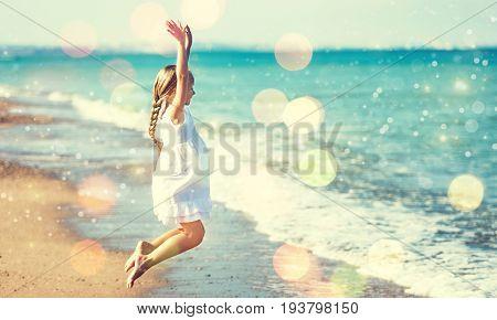 Girl beach dress sandy elementary age human emotions cute girl