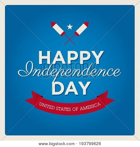 happy Independence Day United States of America greeting card