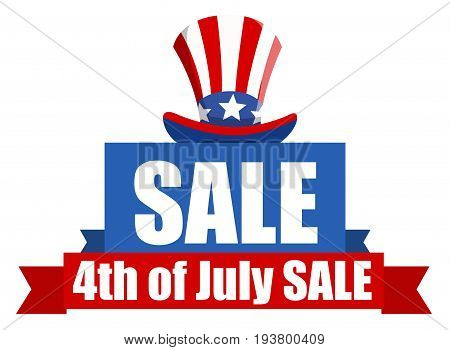 HAppy 4th of July America. Independence Day sale Illustration