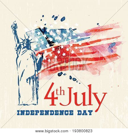 happy 4th of July. Independence Day of America