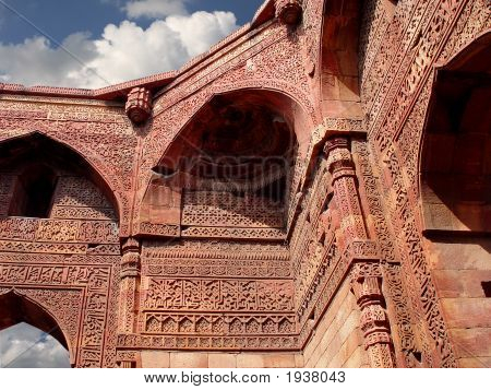Qutub Minar - Delhi - India. Ancient Mosque