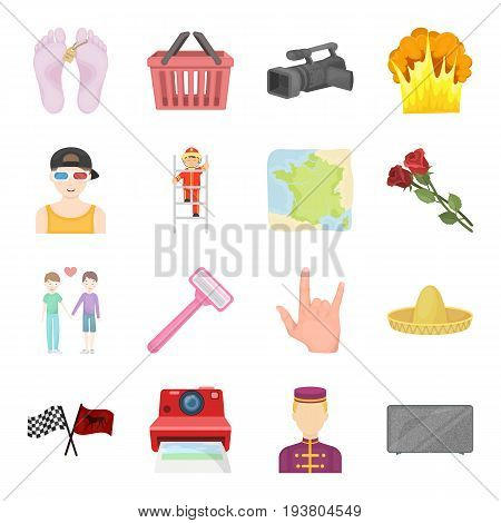 Sports, beauty, shopping and other  icon in cartoon style.Travel, mourning, cleanliness icons in set collection.