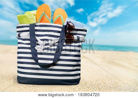 Color colorful bag summer beach close up beach bag