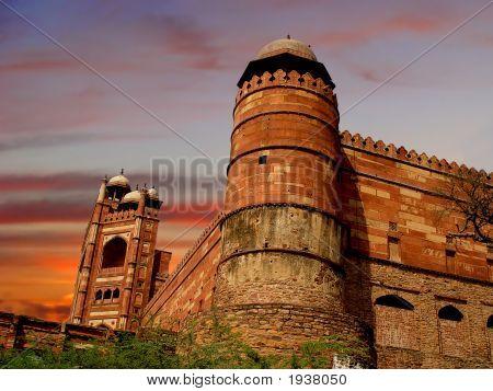 Deserted Mughal City At Fatehpur Sikri, India
