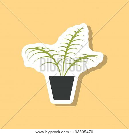 paper sticker on stylish background Ficus nature