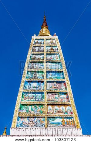 gopuram style rooftop at the Shwedagon Pagoda Yangon (Rangoon) in Myanmar (Burma)