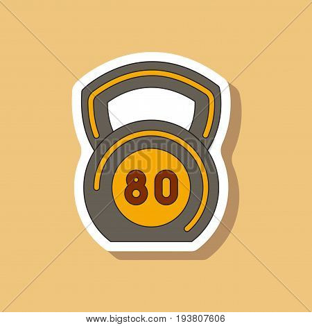 paper sticker on stylish background Weight fitness