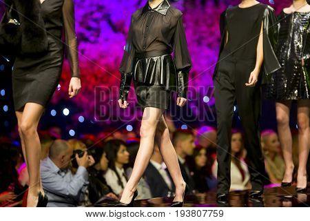 Fashion Show Runway Beautiful Black Dresses
