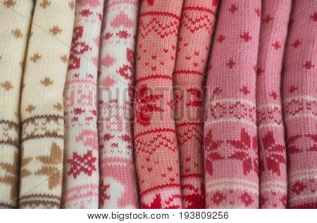 Knits With Snowflake Pattern Rolled