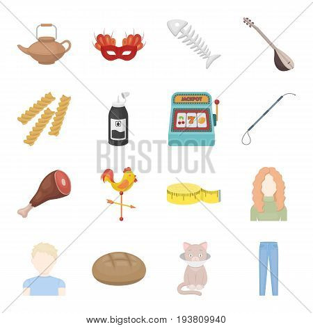 rest, restaurant, business and other  icon in cartoon style.illness, limiter, trousers, icons in set collection.