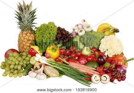 Vegetables green color image red group large