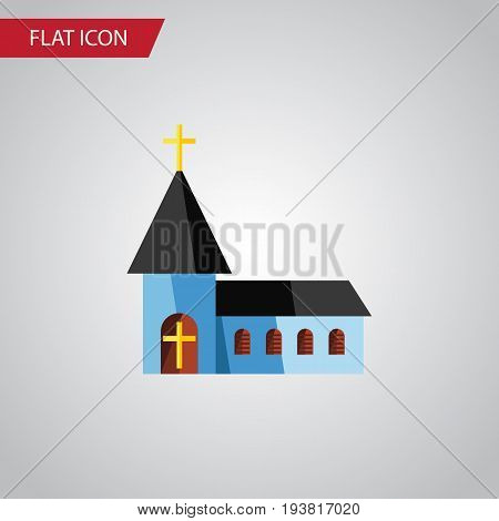 Isolated Structure Flat Icon. Christian Vector Element Can Be Used For Structure, Christian, Building Design Concept.