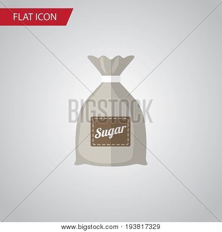 Isolated Sugar Bag Flat Icon. Sack Vector Element Can Be Used For Sugar, Sack, Bag Design Concept.
