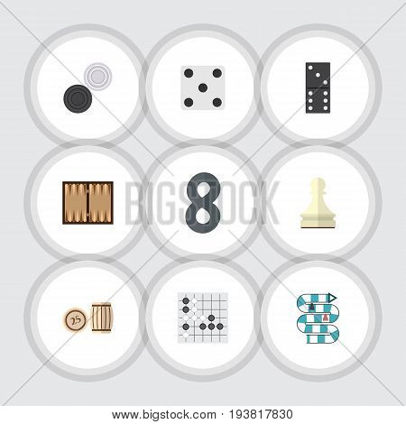 Flat Icon Games Set Of Chequer, Pawn, Multiplayer And Other Vector Objects. Also Includes Chequer, Lotto, Multiplayer Elements.