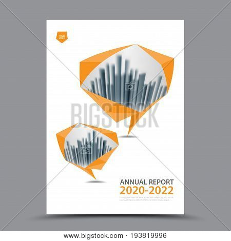 Orange Brochure template layout cover design annual report magazine flyer or booklet in A4 magazine advertising poster leaflet business layout polygon vector illustration