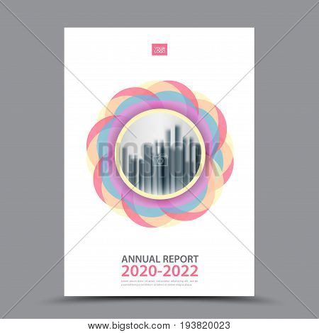 Pink Brochure template layout cover design annual report magazine flyer or booklet in A4 magazine advertising poster leaflet business layout polygon vector illustration