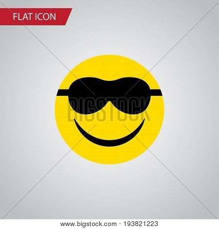 Isolated Sunglasses Flat Icon. Happy Vector Element Can Be Used For Smile, Sunglasses, Happy Design Concept.