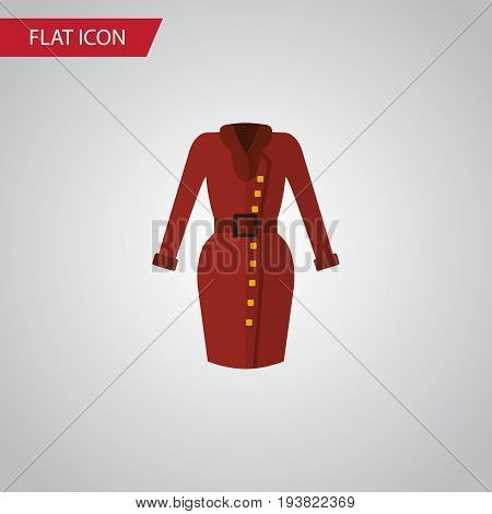 Isolated Dress Flat Icon. Clothes Vector Element Can Be Used For Dress, Clothes, Garment Design Concept.
