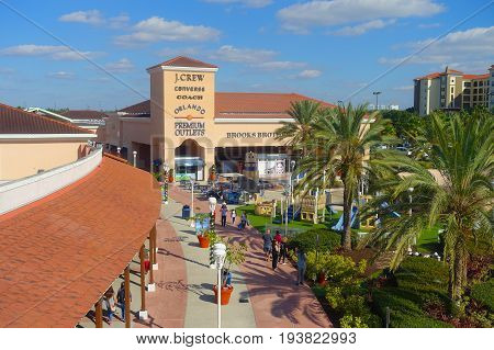 HOUSTON, USA - JANUARY 12, 2017: Unidentified people walking near of shooping center in Legoland, as touristic place, aerial view.