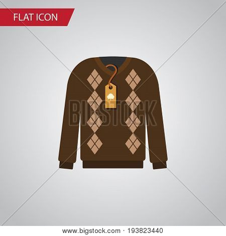 Isolated Sweater Flat Icon. Pullover Vector Element Can Be Used For Sweater, Pullover, Jacket Design Concept.